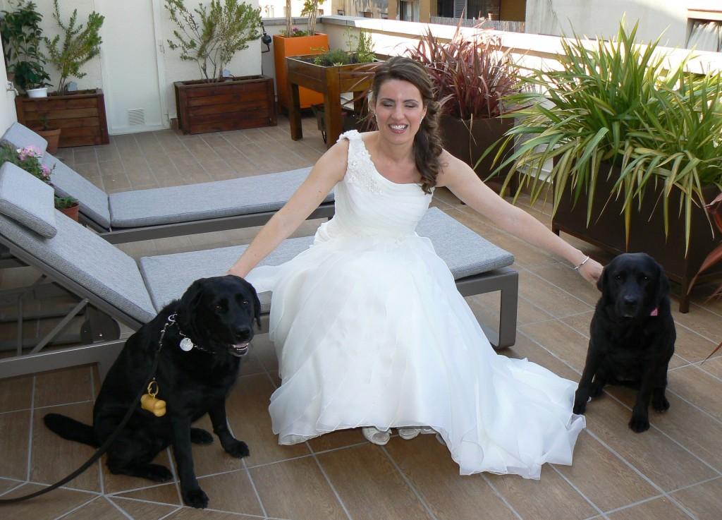 La novia con Bella y Mery